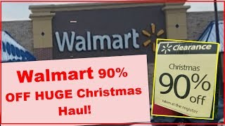 Shop With Me Walmart Christmas Clearance Haul   90% Off