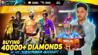 Buying 40,000 Diamonds In India's Luckiest Subscriber Account || LIVE REACTION || Garena Free Fire