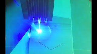 Testing 5.5 W 450 nm Blue Laser, DIY CNC