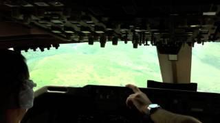 Боинг 747-400 Трансаэро Визуальный заход Варадеро 2012