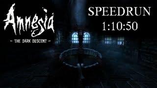 Amnesia: The Dark Descent - glitchless speedrun 1:10:50