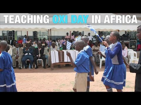 A Priest Celebrates OXI Day in Africa to Empower Youth