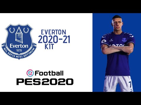 Everton 2020 21 Official Home Kit Pes 2020 Youtube