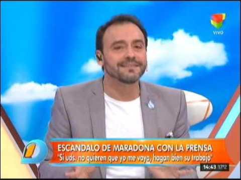 El enojo de Diego Maradona con la prensa