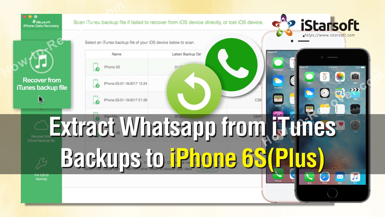 How to Extract Whatsapp from iTunes Backups to iPhone 6S