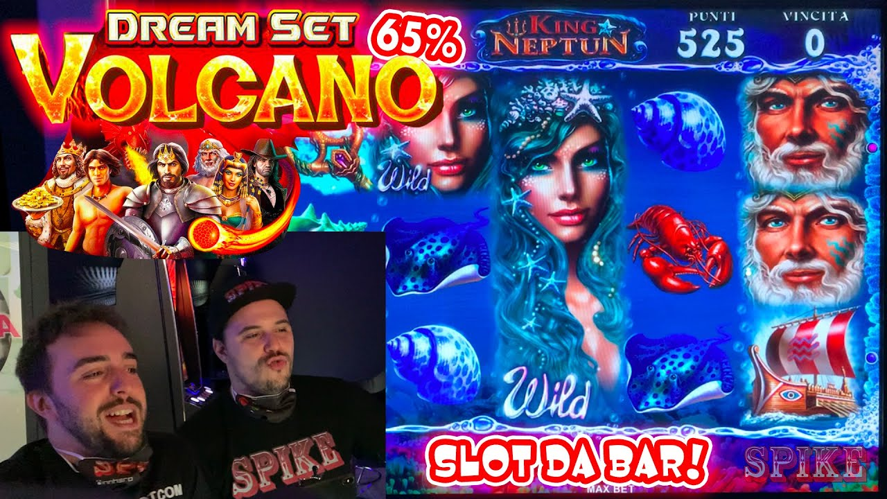 SLOT MACHINE da BAR - Giochiamo alla nuova DREAM SET VOLCANO al 65%