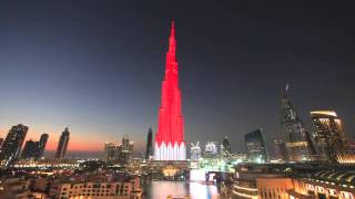 A preview of Burj Khalifa's LED lights