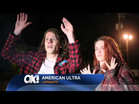 Jesse Eisenberg and Kristen Stewart at the LA premiere of American Ultra