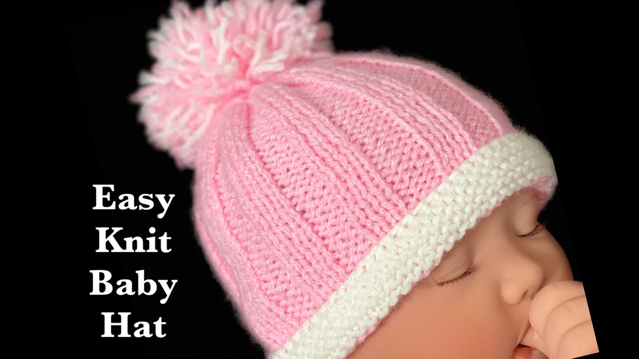 EASY Knit baby hat for Beginners 0-6M, Crochet for Baby