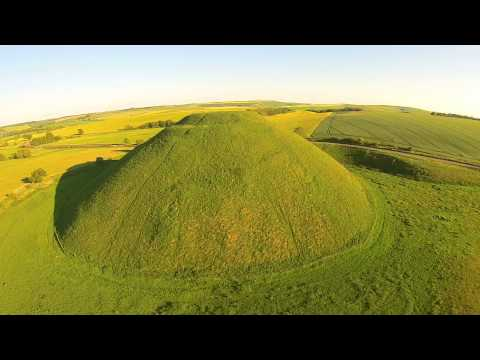 Silbury Hill from way up in the air