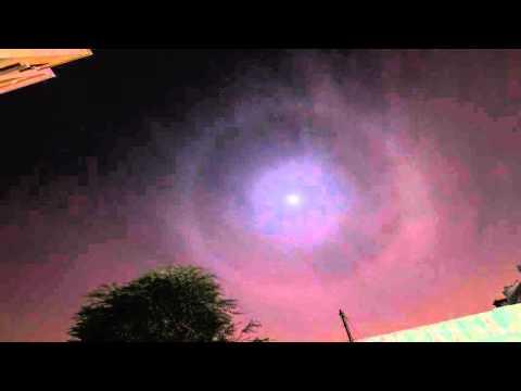 A moon halo in Qatar