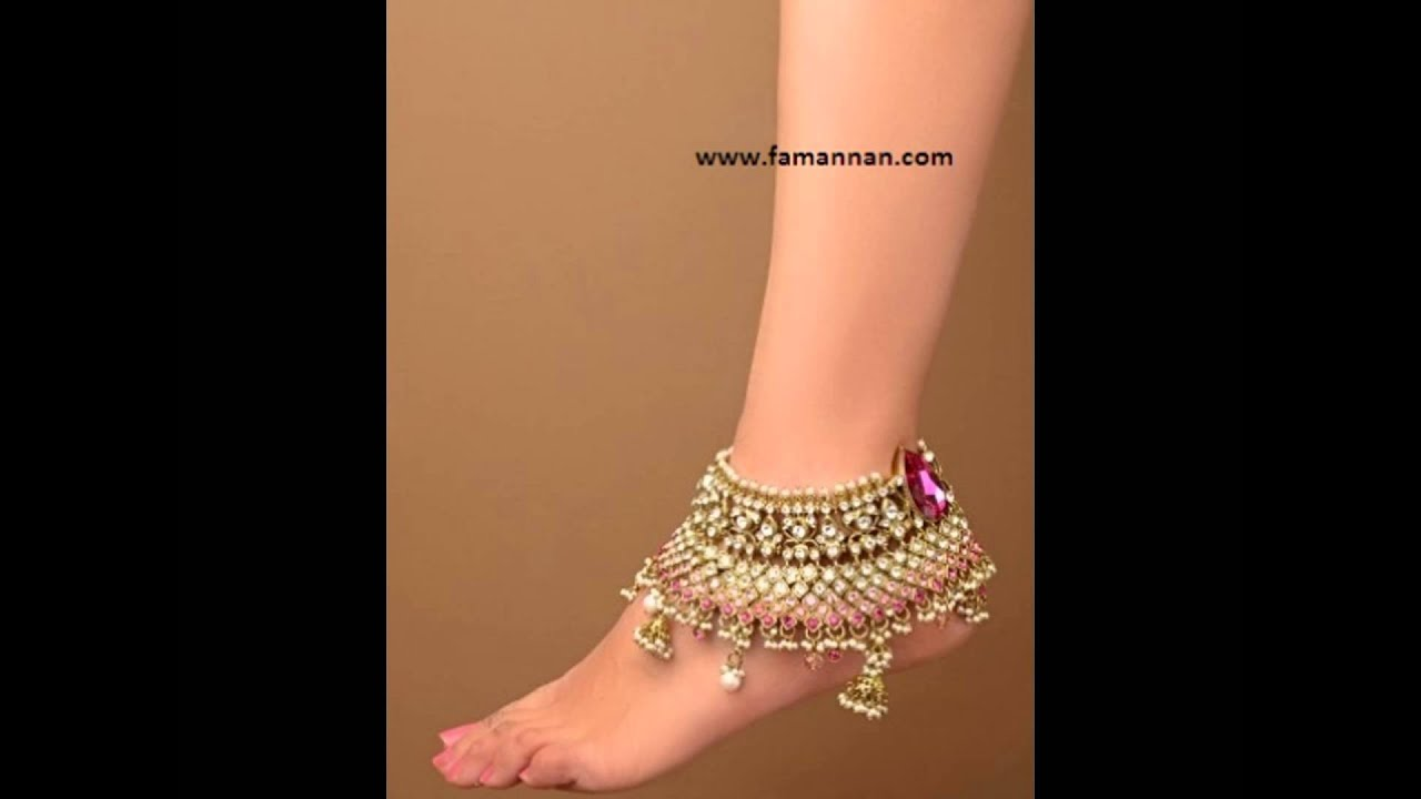 Pazeb Ankle Bracelet Gold and Silver New Marriage Fashion Jewelry ...
