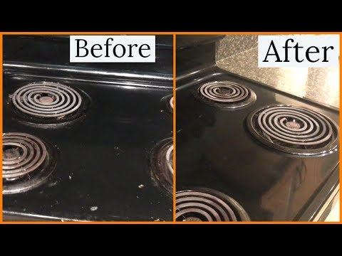 How To Clean Electric Coil Stove Top||Shweta'svlogspace