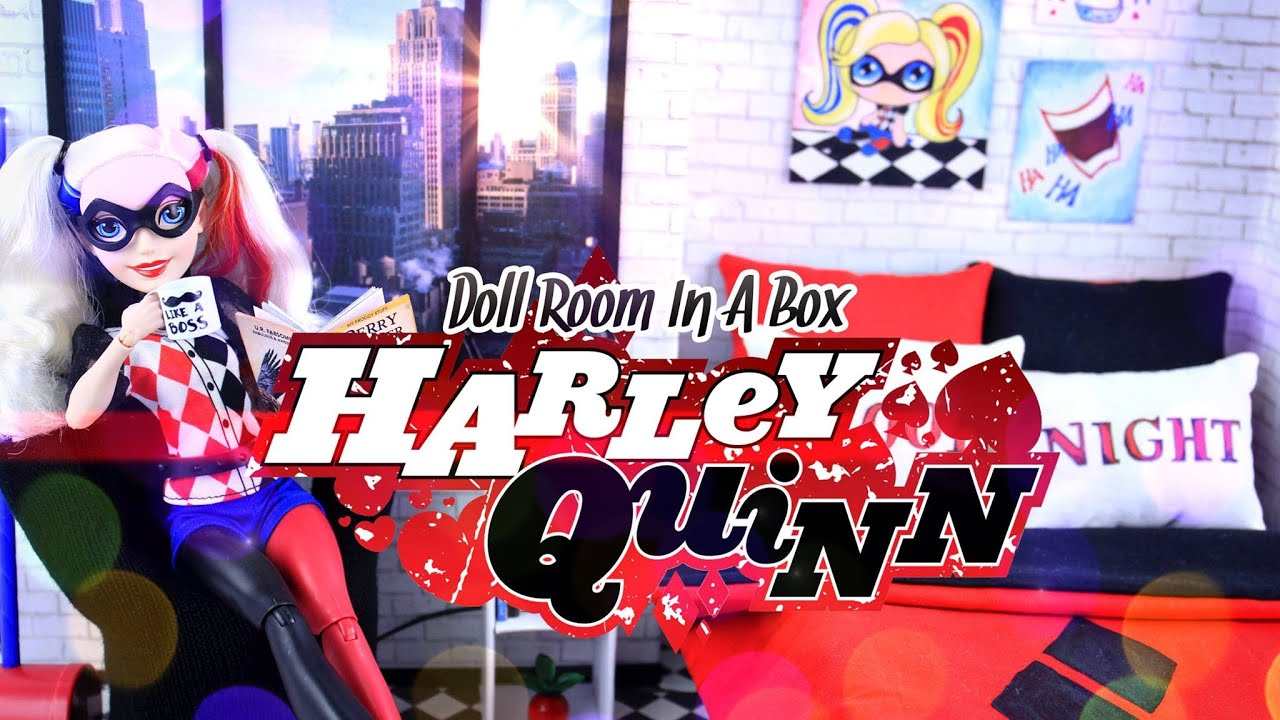 DIY - How to Make:  Doll Room in a Box - Harley Quinn - Craft - 4K