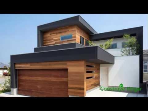 Planos de casa de dos plantas fachada de madera e for Casas e interiores