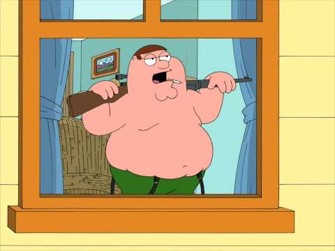 Family Guy - Peter shoots on Lois