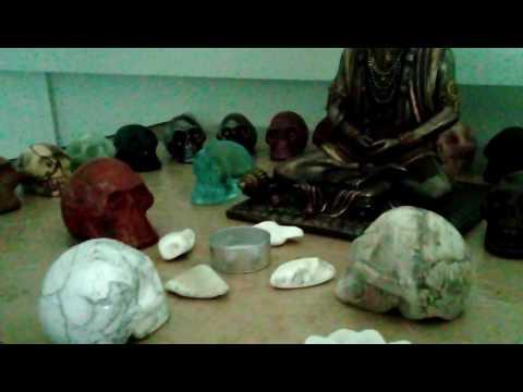My crystal skulls alter..