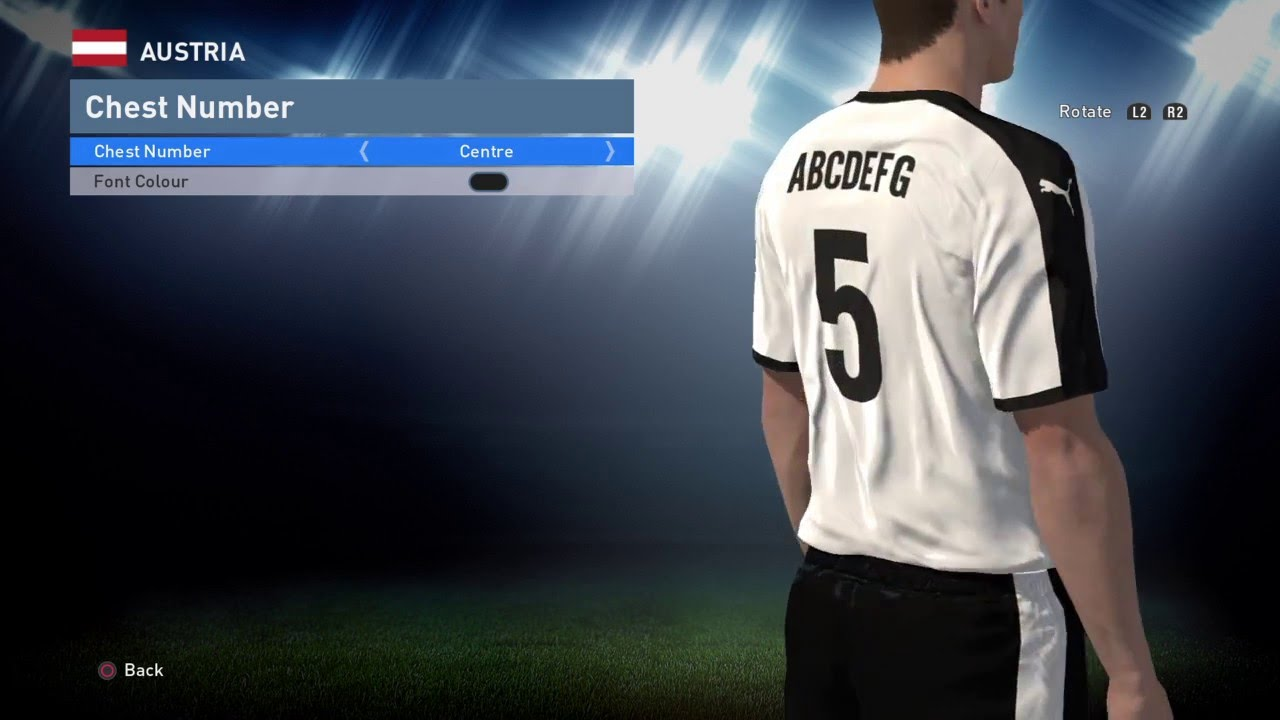 PES World PES 2016 Austria Euro 2016 away kit instructions