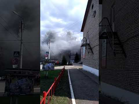 Пожар в Белебее возле налоговой!