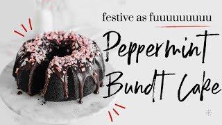 PEPPERMINT BUNDT CAKE    baking with meghan  ∙ BAKEMAS DAY 12