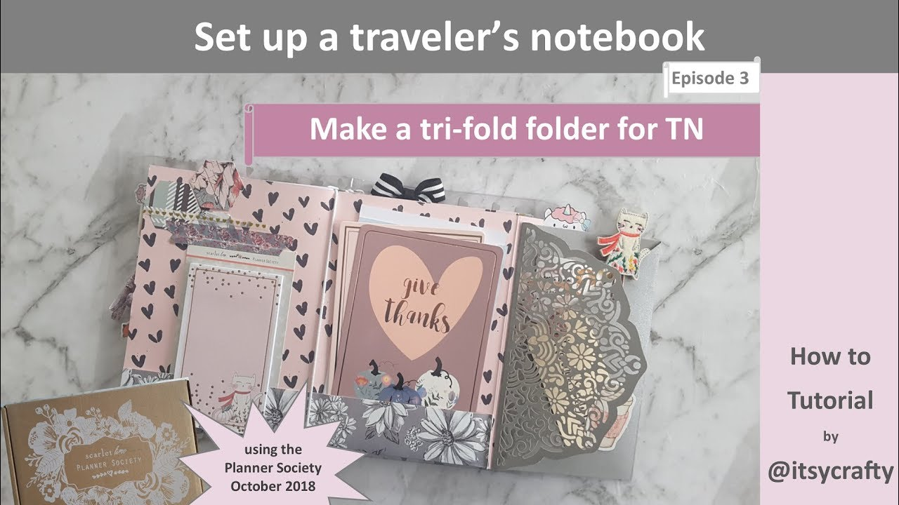 make a trifold folder for a tn using the october planner society kit