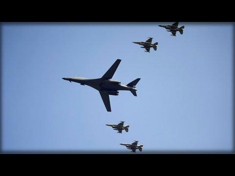 U.S. NUCLEAR B-1B BOMBERS PATROL S.KOREA POST N.KOREA NUKE TEST
