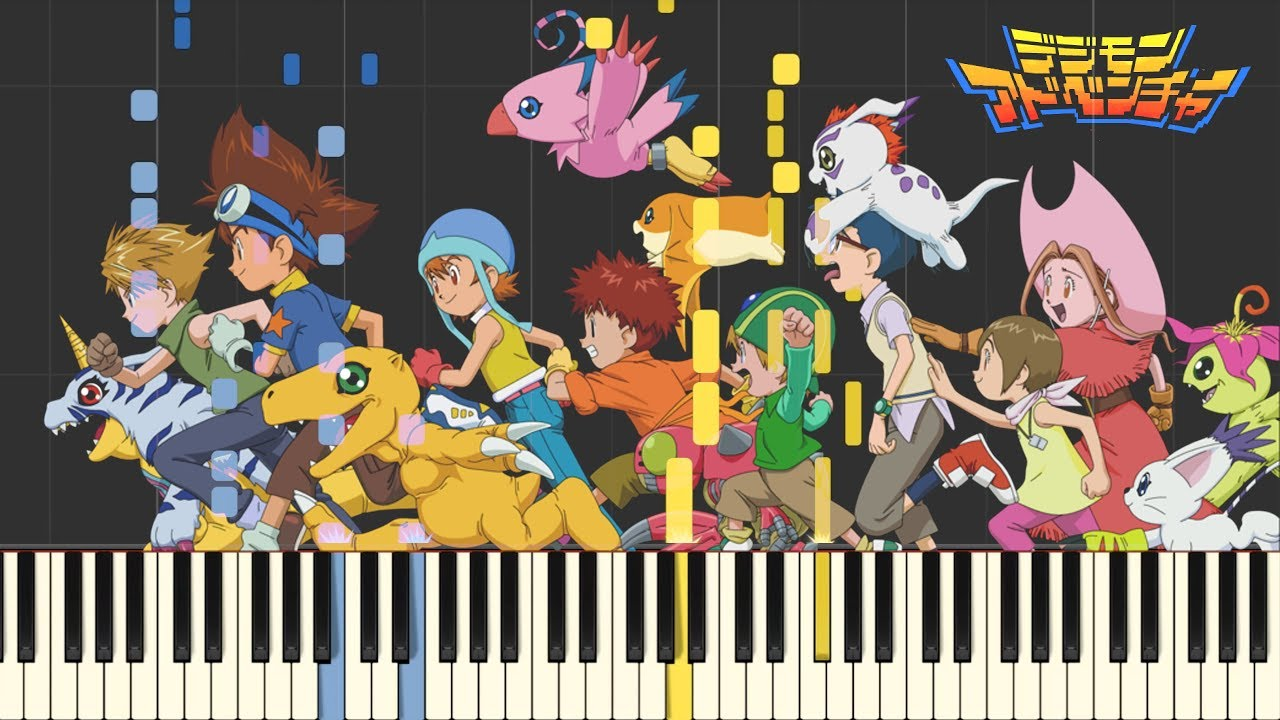 Digimon Adventure Op Butterfly Full Ver Synthesia