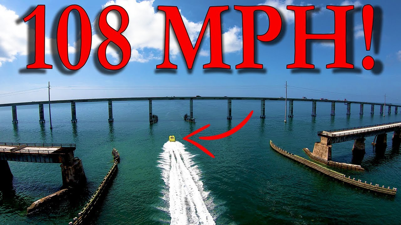 Breaking 100 MPH In A Speed Boat!