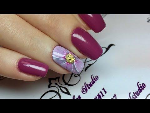 Маникюр. Дизайн ногтей. Рисуем ромашки. Дизайн ногтей цветы.