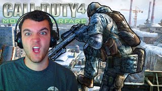 OLD SCHOOL SNIPING! Throwback Call of Duty 4: Modern Warfare ACOG Sniper Gameplay!