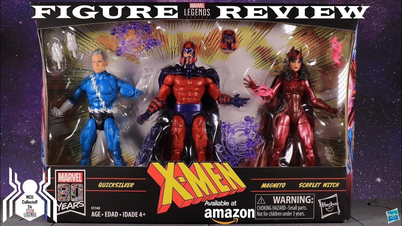 X-MEN FAMILY MATTERS MAGNETO SCARLET WITCH QUICKSILVER MARVEL LEGENDS FIGURE SET