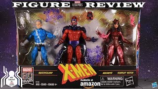 Marvel Legends X-MEN FAMILY MATTERS Quicksilver Magneto Scarlet Witch 3 Pack Amazon Exclusive Review