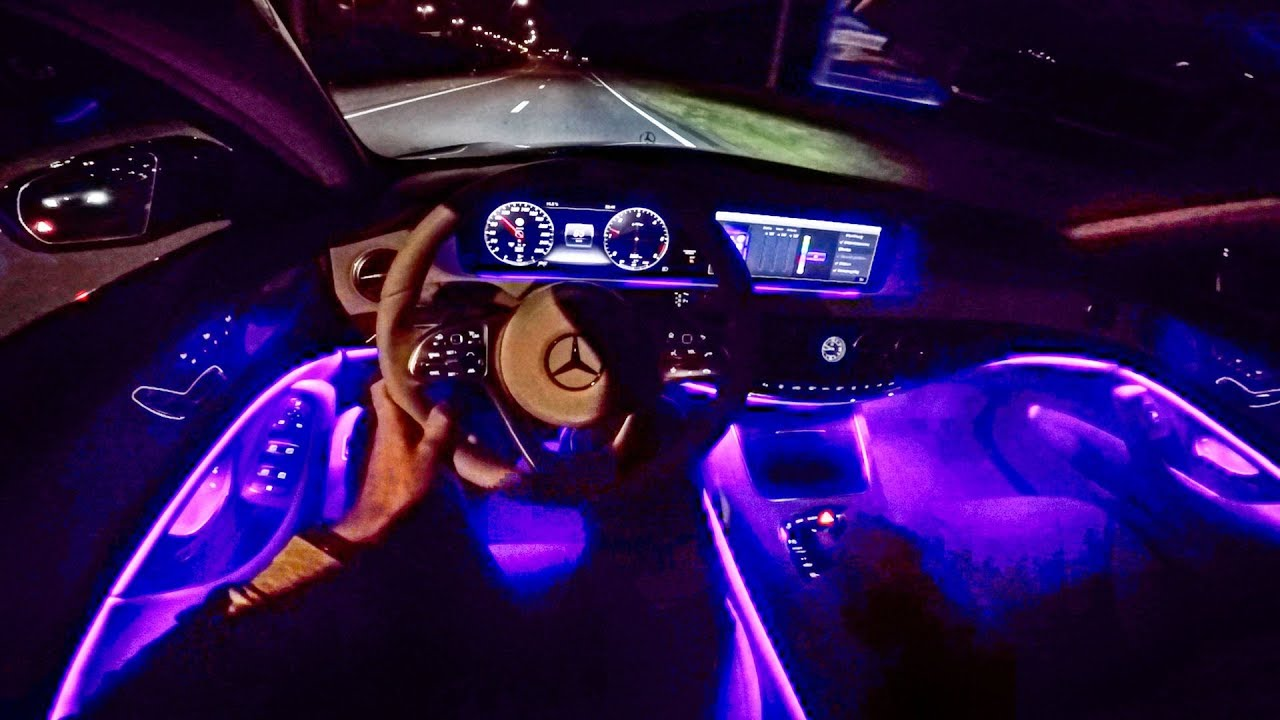 2018 Mercedes Benz S Class Pov Night Drive Ambient Lighting By Autotopnl Youtube