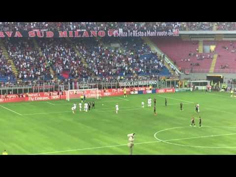 Carlos bacca scores penalty! (ac milan vs. torino 21.08.2016)