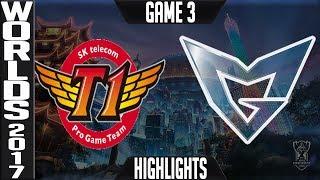 SKT vs SSG Highlights Game 3 Worlds 2017 Final - SK Telecom T1 vs Samsung Galaxy World Championship