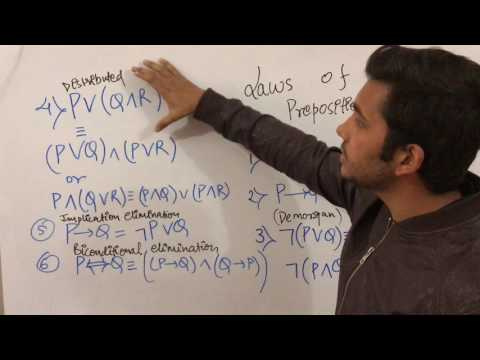 Artificial intelligence 27 laws of preposition logic in ai | Tutorial | lecture | sanjaypathakjec