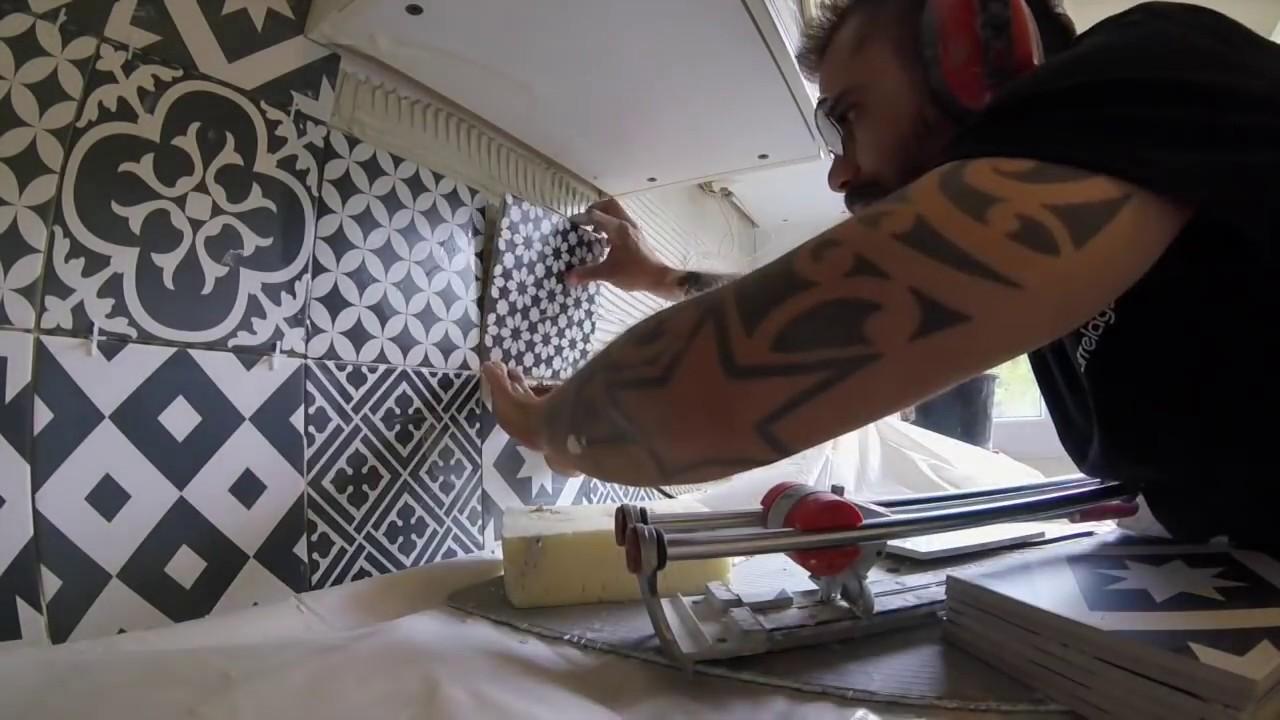 plan de travail cuisine carrelage