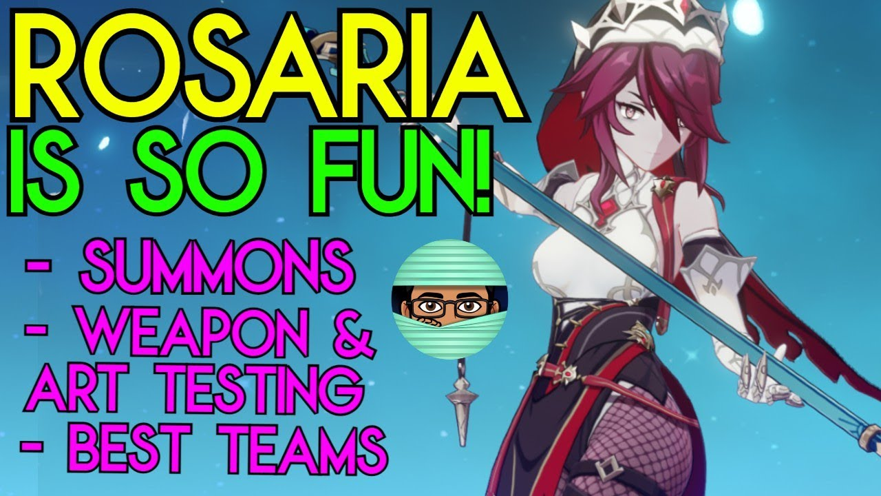 Rosaria Slaps at C20   Weapon and Artifact Testing + Summons & Abyss   Team  Builds   Genshin Impact