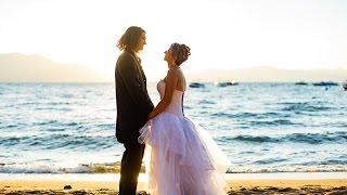Zephyr Cove Beach Wedding Lake Tahoe NV