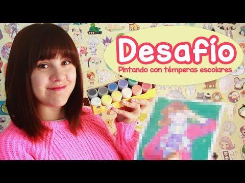 DESAFÍO: Pintando con témperas escolares! 😱🎨 / #Temperasdf