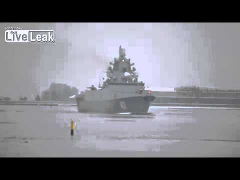 Modern Russian frigate Admiral Gorshkov -first video!