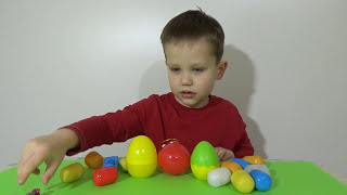 Тачки яйца с сюрпризом открываем игрушки Cars unboxing  plastic surprise eggs(Макс самостоятельно приготовил яйца с сюрпризом и игрушками из Киндер Сюрприза со своей коллекции Тачки..., 2015-02-11T13:21:54.000Z)