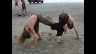 armbol beach , goa , india , sunset , capoeira martial arts [with live music lol] feb 2013