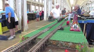Overview of the Atlantic Coast S Gaugers ACSG Layout at the Historic Spencer Shops Train Show