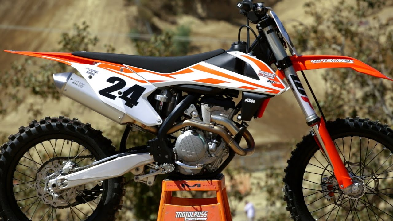 first ride 2017 ktm 350sxf - motocross action magazine - youtube