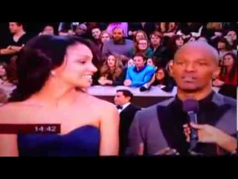 OSCAR Academy Awards 2013   Jamie Foxx and daughter on the red carpet