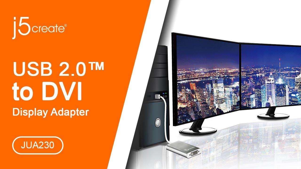 j5create USB 2 0 DVI Display Adapter JUA230 - Micro Center