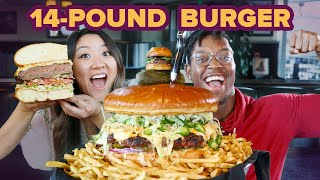I Surprised My Friend With A Giant 14-Pound Burger • Giant Food Time