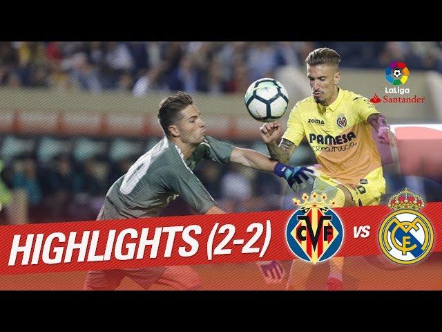 Resumen de Villarreal CF vs Real Madrid (2-2)