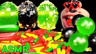 ASMR EATING MERMAID JELLY and KYOHO JELLY, 머메이드 수수깡젤리 거봉 젤리 먹방 HITSCHLER MUKBANG Real Sound Today's menu is two kinds of ...